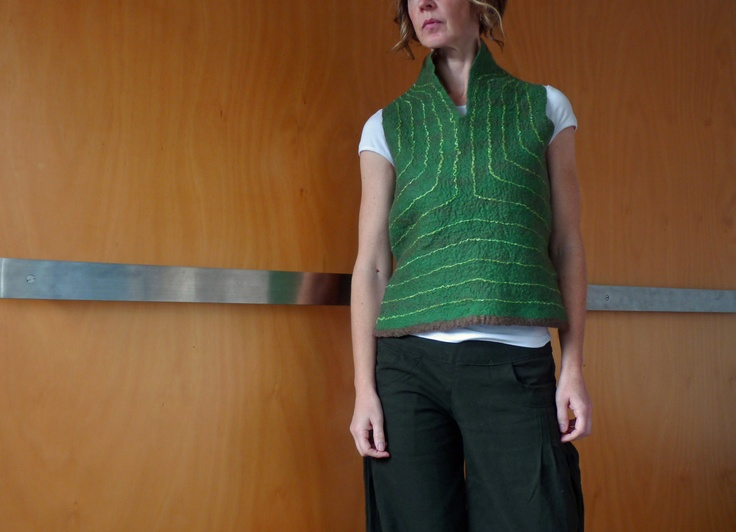 Felted Designer Women's Clothes Design Clothing Vest Felt