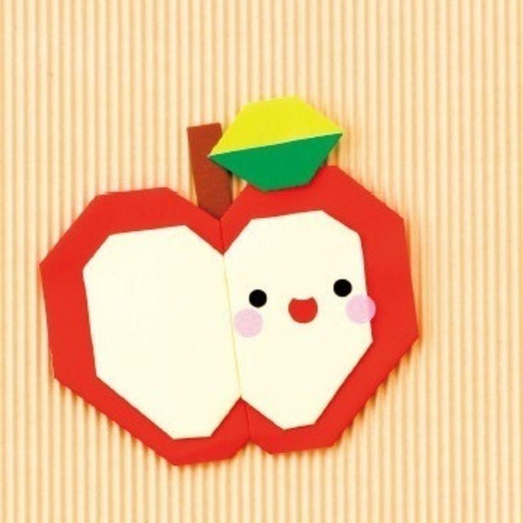 子どもも大好き!一緒に楽しめる 簡単かわいい折り紙のりんごの折り方(おりがみ) | ぬくもり