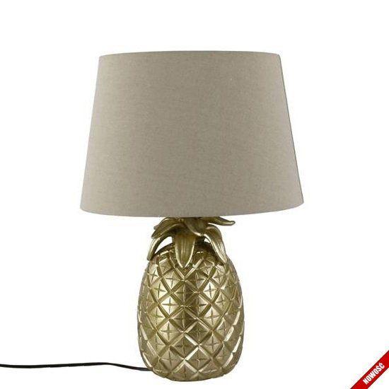 Lampa ANANAS - lampa stołowa z podstawą ananas - złota - NieMaJakwDomu