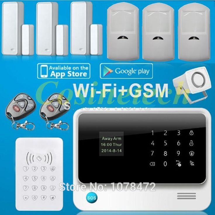 130.19$  Buy here - http://ai113.worlditems.win/all/product.php?id=32437382283 - G90B Smart home alarm system IOS&Android APP controlled Wifi Alarm system with GSM,GPRS,RFID  alarm system for home,office,shop