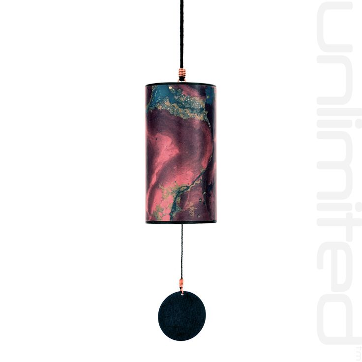 Zaphir Blue Moon Wind Chime  - Burgundy - FREE SHIPPING