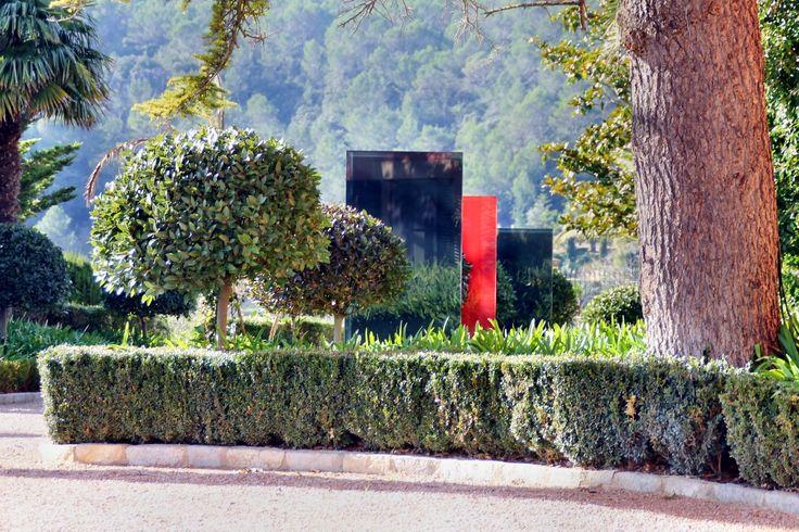 Beispiele / Bilder Designelemente Garten Sichtschutz Glas / Beton Für Die  Gartengestaltung