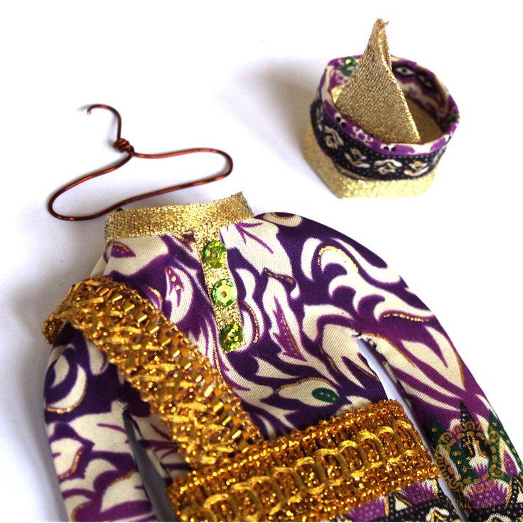 Miniature malay clothes