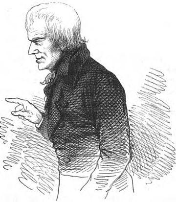 Hölderlin nel 1825, disegno di Eduard Mörike