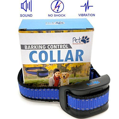 NO SHOCK Humane Bark Control Collar, For 10-120lb Dogs, Extremely Effective with No Pain or Harm, 7 Different Bark Sensitivity Levels, Bark Training Collar Vibration, Neck size 8.34in to 24.5in - Are you tired of your dog barking to the point where you are not getting any sleep? Can't go on walks? Well look no further, our bark collar will stop your dogs barking in no time so you can go back to a peaceful life! We only sell HUMANE and ETHICAL bark collars. This bark collar is the most hum...