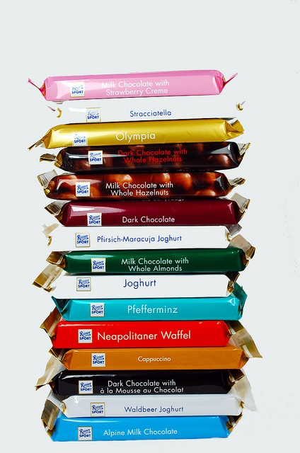 ritter sport!  Quadratisch. I have a feeling this board will end up containing lots of chocolate.