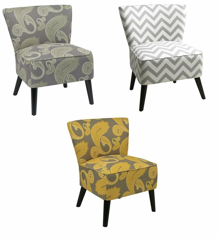 On Sale Avenue Six Apollo Armless Fabric Accent Living Room Bedroom Side Chair For The Home