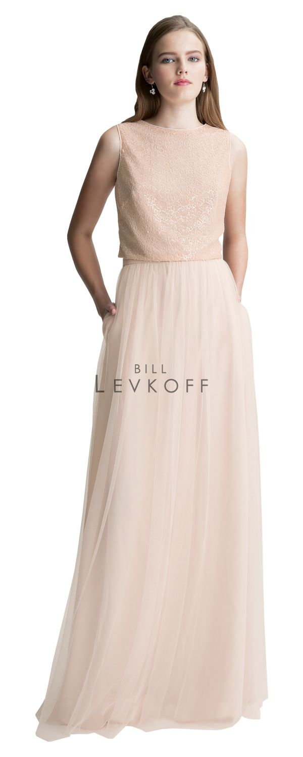 236 best bridesmaid dresses at mias bridal images on pinterest bill levkoff 1426 is a two piece bridesmaid gown sequin lace sleeveless top with an english net gathered skirt available in solid or in any combination of ombrellifo Choice Image
