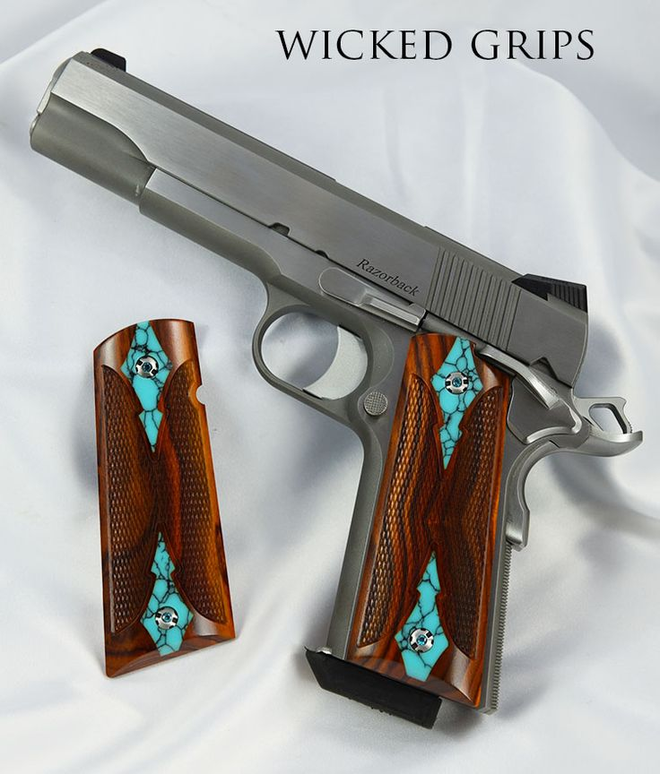 1911 WOOD GRIPS SET 376 COCOBOLO TURQUOISE - 1911 wood grips turq coco set 376… Loading that magazine is a pain! Excellent loader available for your handgun Get your Magazine speedloader today! http://www.amazon.com/shops/raeind