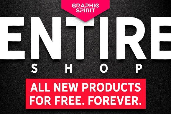 ENTIRE SHOP + NEW PRODUCTS FOR FREE by Graphic Spirit on @creativemarket