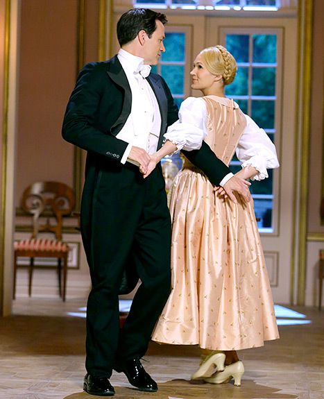 Stephen Moyer as Captain Von Trapp and Carrie Underwood as Maria in The Sound of Music Live!.