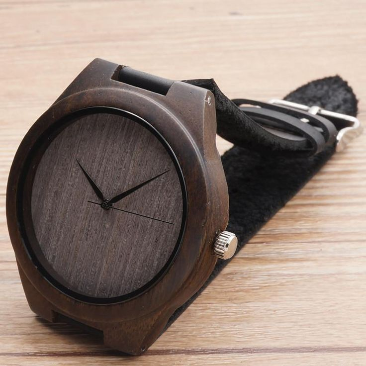 Bamboo Wooden watches for men 2017 dark black