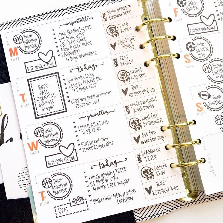 I love the use of stamps AND stickers in my inkWELL Press planner. It's important to make your planner as unique as you are, and it's fun to try new things to figure out what works best.   #Regram via @momruncraft