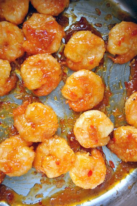 Crackerjack Shrimp The classic Chinese technique of velveting—marinating the shrimp in egg whites cornstarch and Sherry—ensures that the seafood remains moist during the double pan-frying process. A final toss in a blend of chili sauce garlic ginger and sugar will officially (and permanently) kick your carry-out menus to the curb..