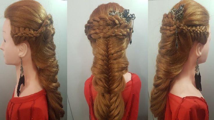 прически в школу или работу для девушек девочек простые косы колосок 5 т...