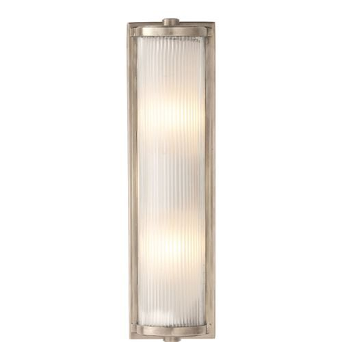 Visual Comfort TOB2141AN-FG Thomas O'Brien Long Dresser Glass Rod 2 Light Wall Sconce in Antique Nickel with Frosted Glass Rods