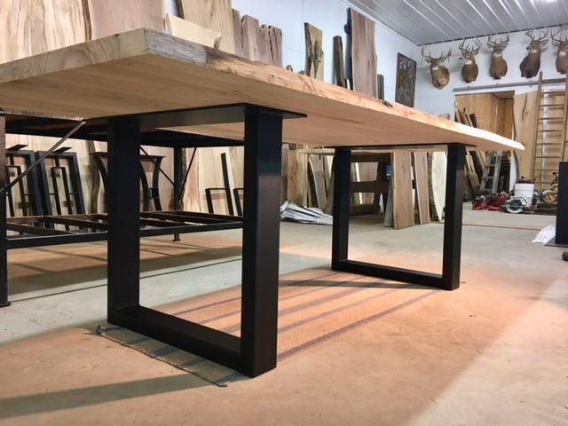 Steel Dining Table Base Ohiowoodlands Metal Table Legs Dining