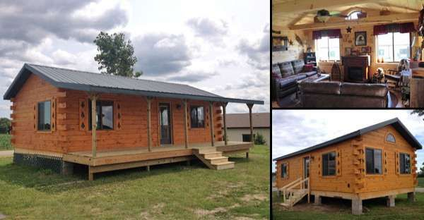 Another Classic Log Cabins from $20,000 with Must See Interior