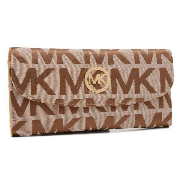 Michael Kors bags and Michael Kors handbags Michael Kors Logo Signature  Large Beige Wallets