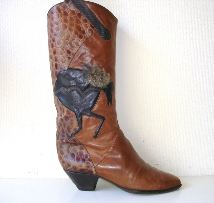 Vintage Baldinini Designers boots #laarzen #horses #vintage