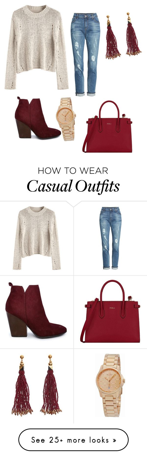 """Casual and comfortable"" by katycobb21 on Polyvore featuring KUT from the Kloth, Furla, Nocturne and Gucci"