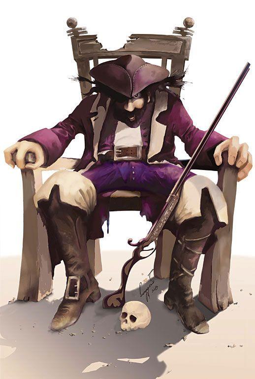 Рисунок пирата.  Михаил Бодров