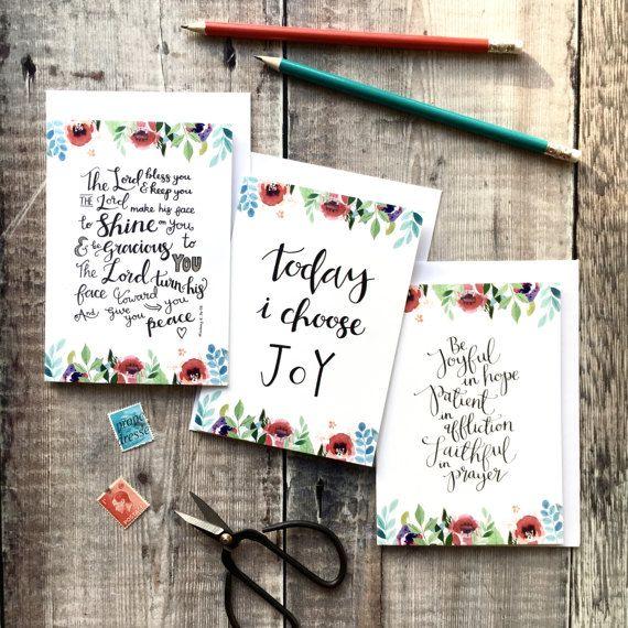 Floral Faith Encouragement Cards  Christian Cards  Pack of