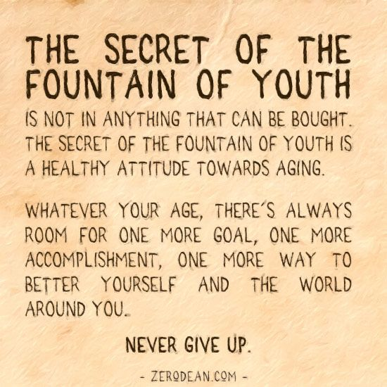 Blog Excerpt The Secret Of The Fountain Of Youth Is Not In Anything