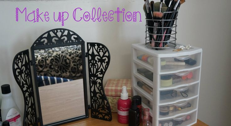 Makeup collection and storage ideas for small spaces/collections.