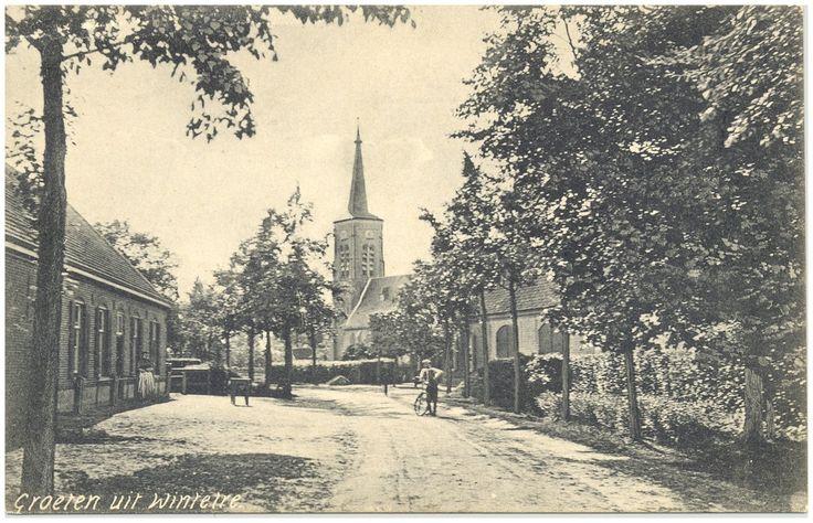 Wintelre, Kerkstraat, gezien in de richting van de RK kerk Bijnen, Jan # Photografische Kunsthandel Bijnen (uitgever); niet vermeld 1905 - 1920
