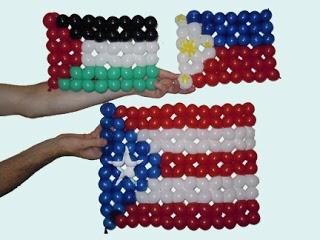 Флаги Палестина, Филлипины, Пуэрто Рико Плетение из шариков