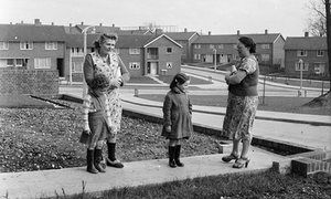 Council housing in the new town of Hemel Hempstead, 1954.