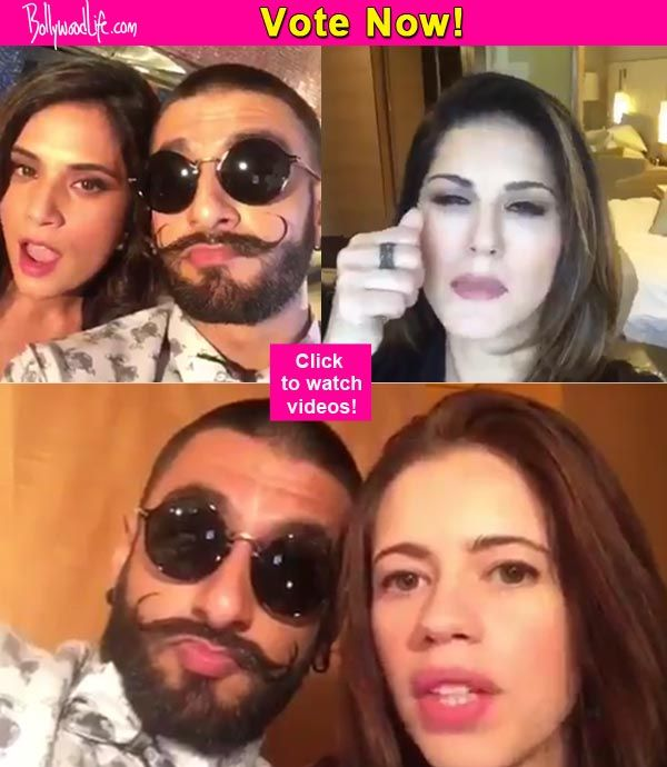 Sunny Leone Kalki Koechlin or Richa Chadda  who ace Ranveer Singhs dialogue from Bajirao Mastani!