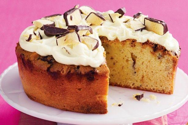 White choc honeycomb mud cake - Incorporate your favourite chocs into this rich, moist mud cake.