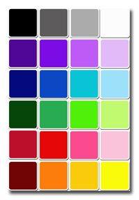 cartes à imprimer couleurs