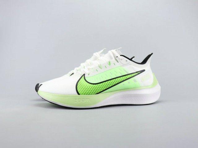 NIKE ZOOM GRAVITY lime green white unisex running shoes ...
