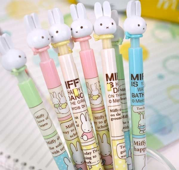 Cute Pen For School - Miffy Pastel 0.38 mm Retractable Ballpoint Pen | CoolPencilCase.com