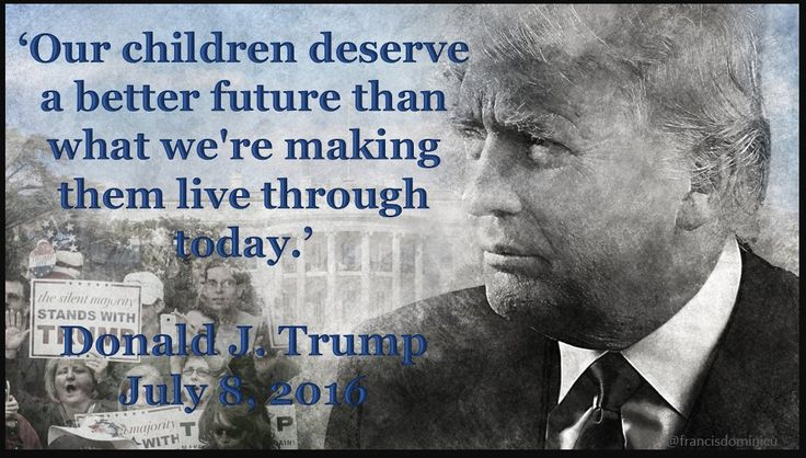 As a mother, that is why I am voting for Trump! I want for a better, safer…