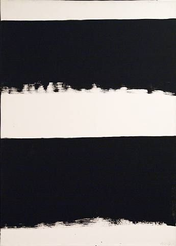 Peinture 324 x 181 cm, 14 mars 1999 (Polyptyque), 1999 by Pierre Soulages. Minimalism. abstract. Private Collection