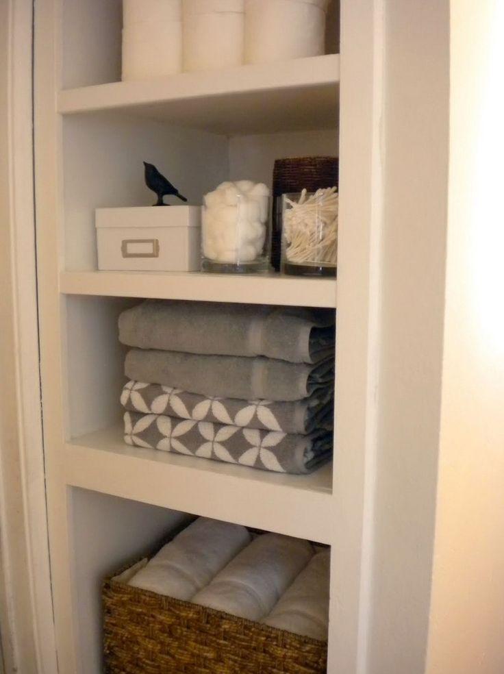best 25 small linen closets ideas on pinterest organize a linen closet bathroom linen closet. Black Bedroom Furniture Sets. Home Design Ideas