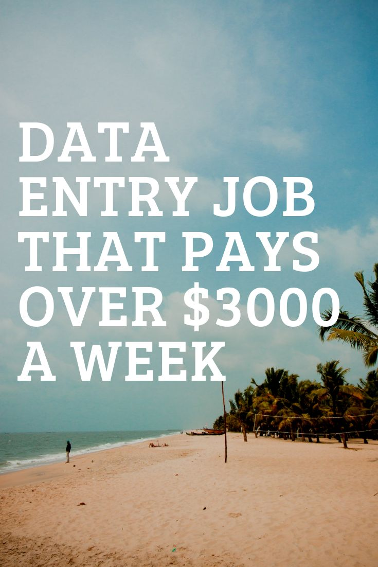 Earn over $3000 a week