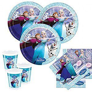 52 piezas set decoración fiesta Reina del Hielo Ice patinaje - para 16 niños