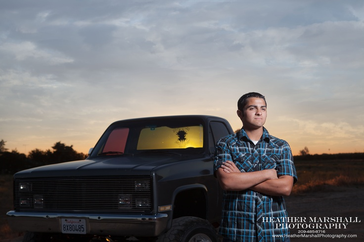 Senior Poses:  Guy with his truck