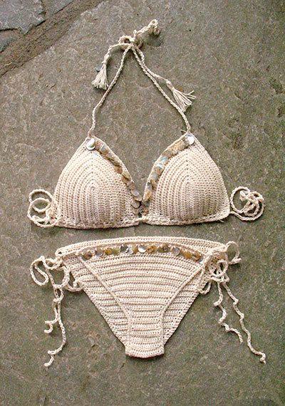 Ganchillo Bikini de Shell hecho a mano crochet bikini por MarryG
