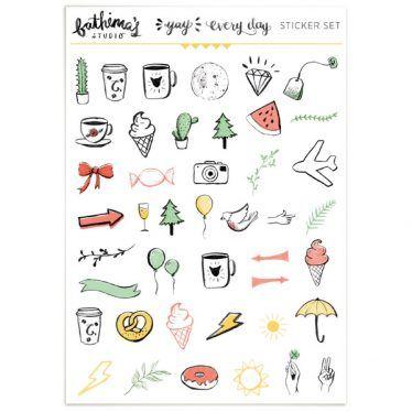 Planner Stickers – Illustrations 01