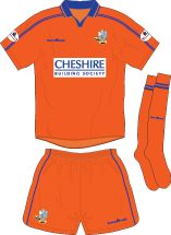 Macclesfield Town away kit for 2002-03.