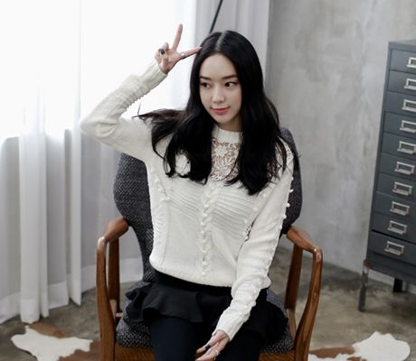 Loveliness of the female clothing shop. [Whitefox] Knitted Lace Cleo Slide / Size : FREE / Price : 36.33 USD #korea #fashion #style #fashionshop #apperal #koreashop #ootd #whitefox #knit #top #lace