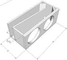 STAGE 3 DUAL SEALED SUBWOOFER MDF ENCLOSURE FOR SUNDOWN SA15 SUB BOX