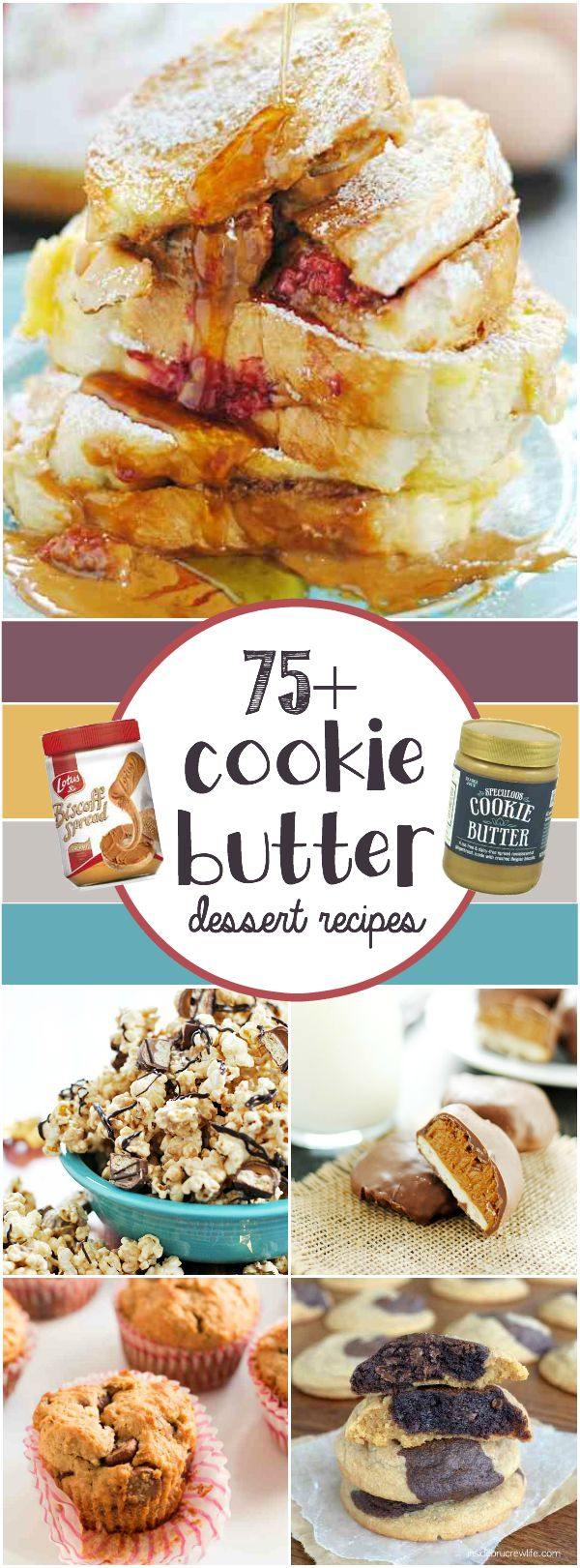 Over 75 delicious recipes that begin with cookie butter (or biscoff, speculoos, whatever you call it)!