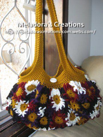 Crocheted Flower Purse - Meladora's Creations Free Crochet Patterns & Tutorials